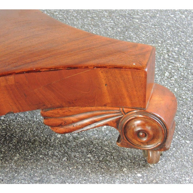 Animal Skin Early 19th C English Regency Library Table with Writing Slide For Sale - Image 7 of 7