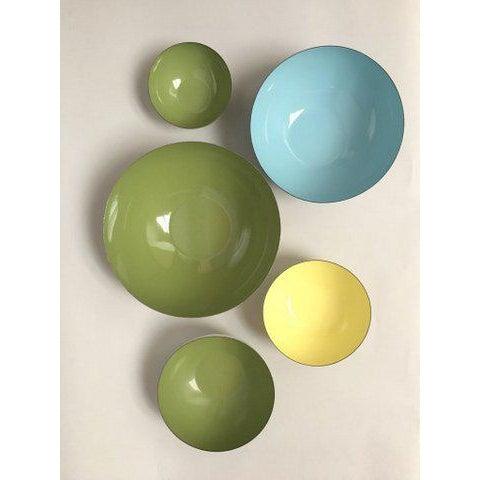 Cathrineholm Scandinavian Modern Enamel Nesting Bowls - Set of 5 For Sale In New York - Image 6 of 11