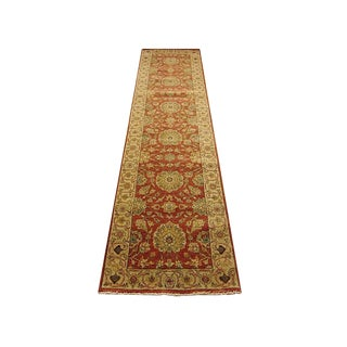 Shiraz - Geometric Indo Serapi Runner Rug - 2'5''×10'2'' For Sale