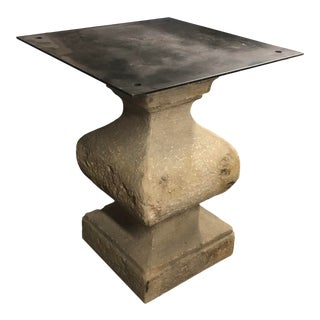 Traditional Stone Pedestal Table Base For Sale