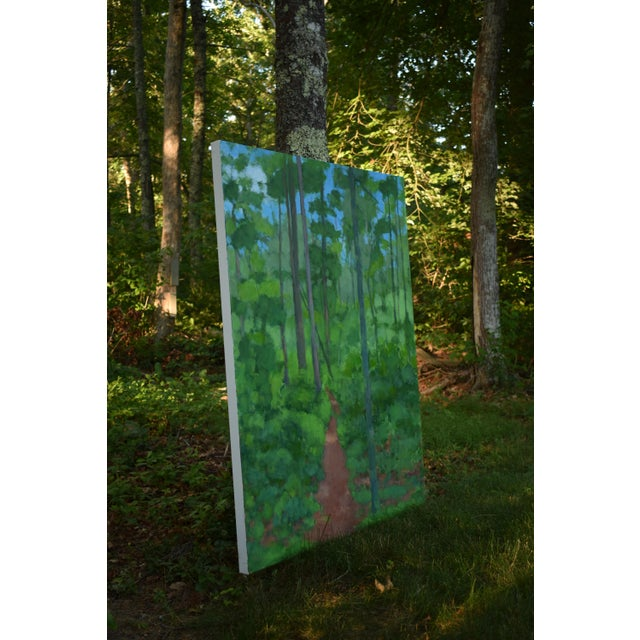 "Large Painting ""At the Edge of the Woods"" by Stephen Remick For Sale - Image 9 of 13"