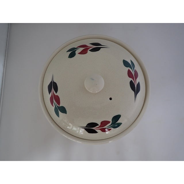 Vintage Hand Painted Lidded Bowl - Image 3 of 7