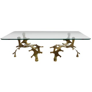 Signed Willy Daro Sculptural Bronze Coffee Table For Sale