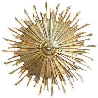 Satin Brass Sunburst Ceiling Medallion