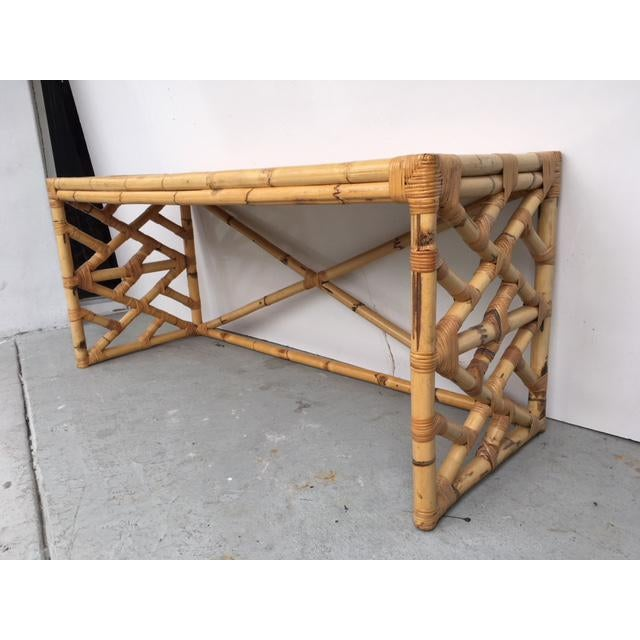 Tropical Chic Bamboo & Rattan Console - Image 3 of 8
