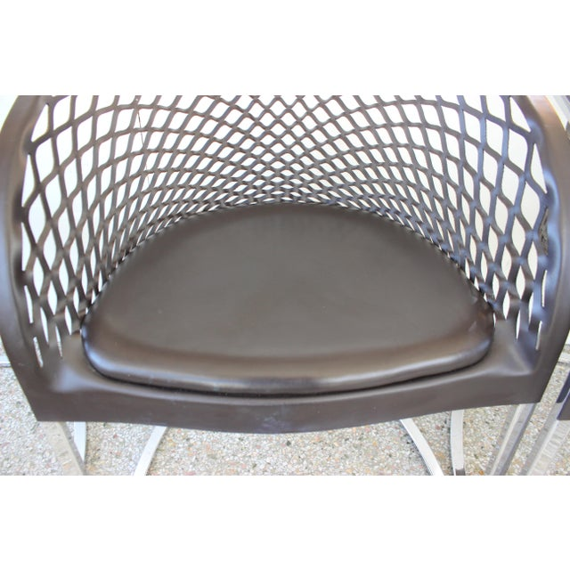 Vintage Mateograssi Dining Chairs in Leather & Chrome - Set of 6 For Sale - Image 10 of 13