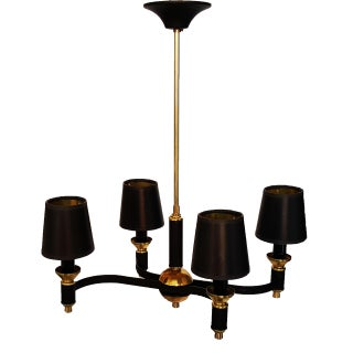 J. ADNET Vintage French Chandelier For Sale