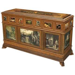 Italian Neoclassical Style Inlaid Satinwood Cassone For Sale