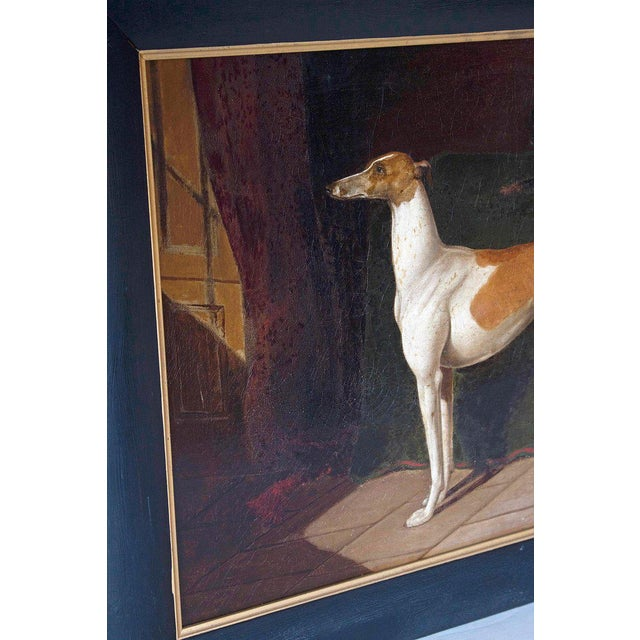 Early 19th Century English Whippet Oil Painting For Sale In Dallas - Image 6 of 13