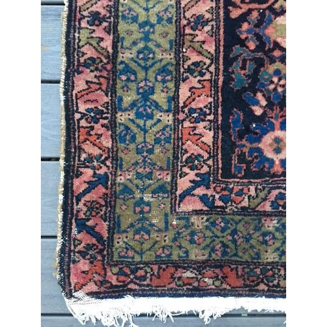 "Antique Persian Hamadan Rug - 5'4"" X 6' - Image 8 of 10"