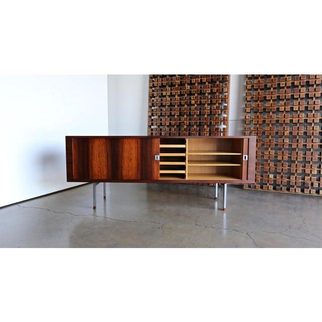 Mid-Century Modern Hans Wegner Rosewood 'President' Cabinet, 1965 For Sale - Image 3 of 13