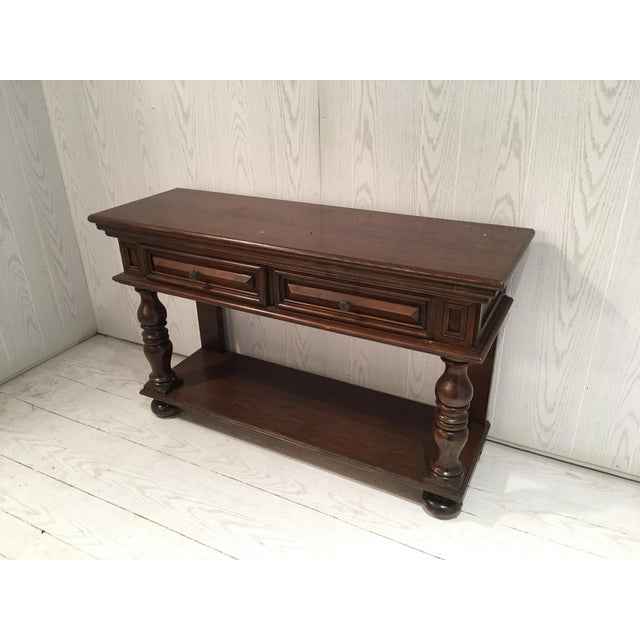 Traditional Wood Sofa Table - Image 6 of 8