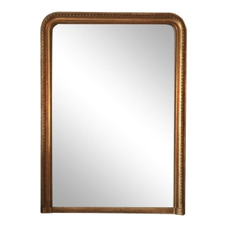 Louis Philippe Gold Leaf Mirror For Sale