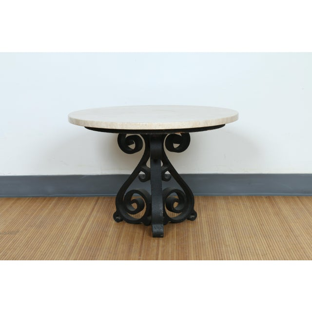Wrought Iron Small Side Table - Image 2 of 11