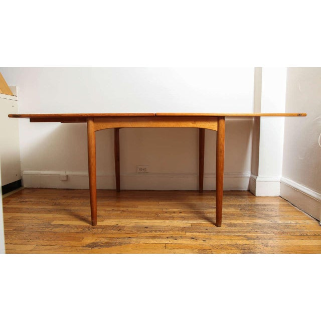 Brown Danish Mid Century Sap Walnut Game Table For Sale - Image 8 of 11
