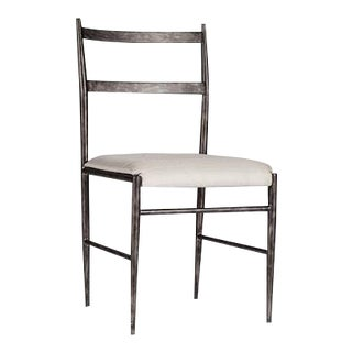 Modern Black Metal Ward Dining Chair