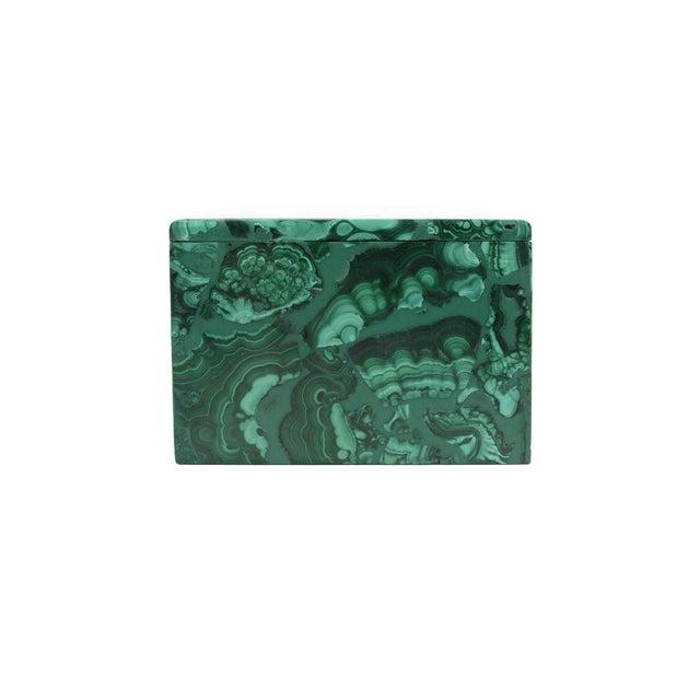 Malachite Antique Lidded Box - Image 4 of 9