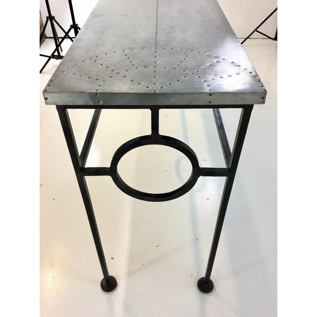 Arteriors Home Industrial Modern Arteriors Westerly Iron and Metal Console Table For Sale - Image 4 of 5