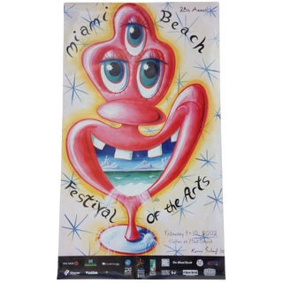 Circa 2002 Kenny Scharf Poster For Sale