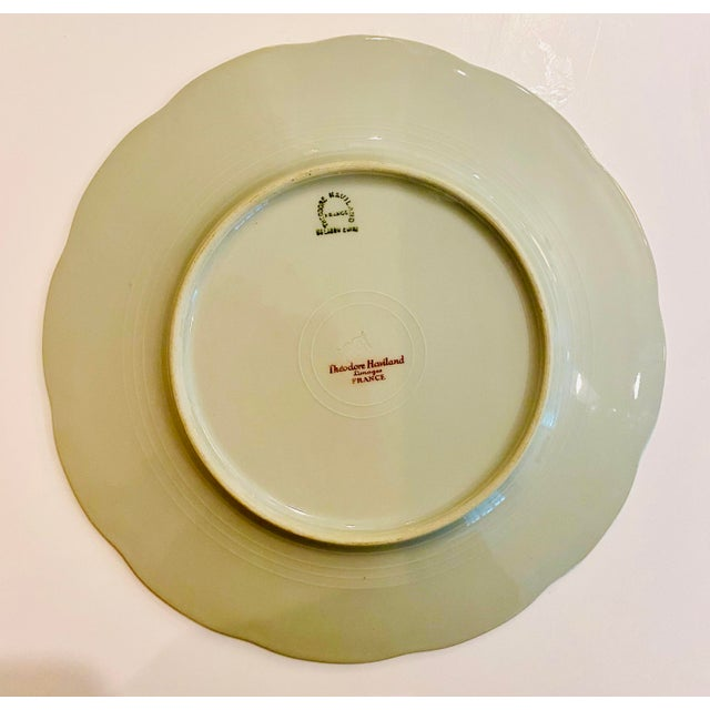 """Theodore Haviland """"Concorde"""" Limoges Celadon and Silver Scalloped Plates - Set of 13 For Sale - Image 9 of 11"""