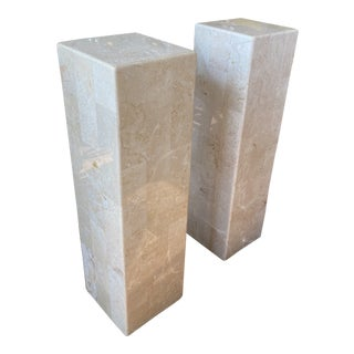 Tessellated Marble Pedestals For Sale