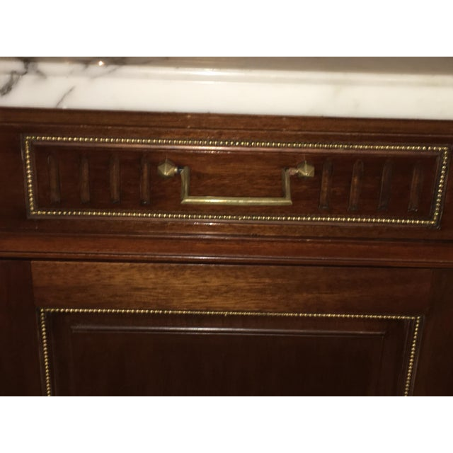 Maison Jansen Louis XV/ Directoire Style Marble Top Mahogany Sideboard - Image 4 of 9