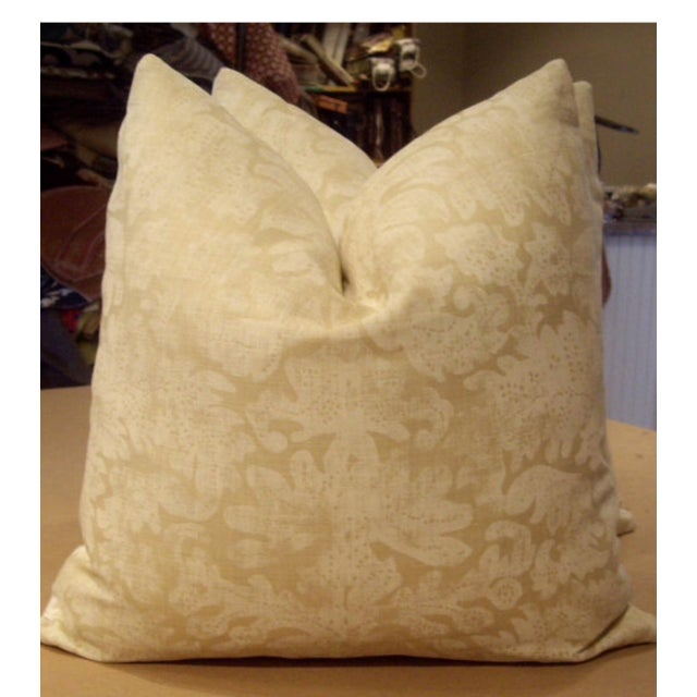 This listing is for one pair (two pillows) made from a linen batik print fabric from Ralph Lauren's White Book Collection...