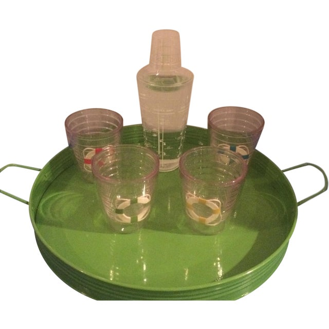 Vintage Tervis Tumbler Set With Shaker & Tray - Image 1 of 9