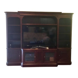 Hooker Furniture Cherry Wood Wall Unit For Sale