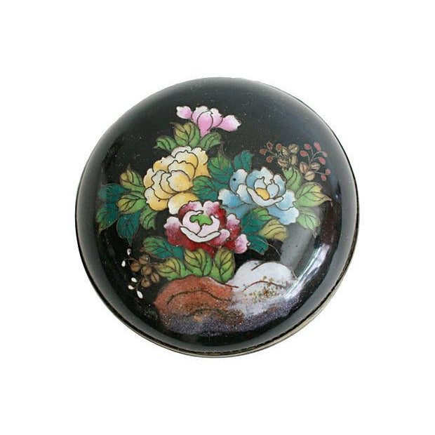 Round Cloisonné Trinket Box - Image 3 of 5