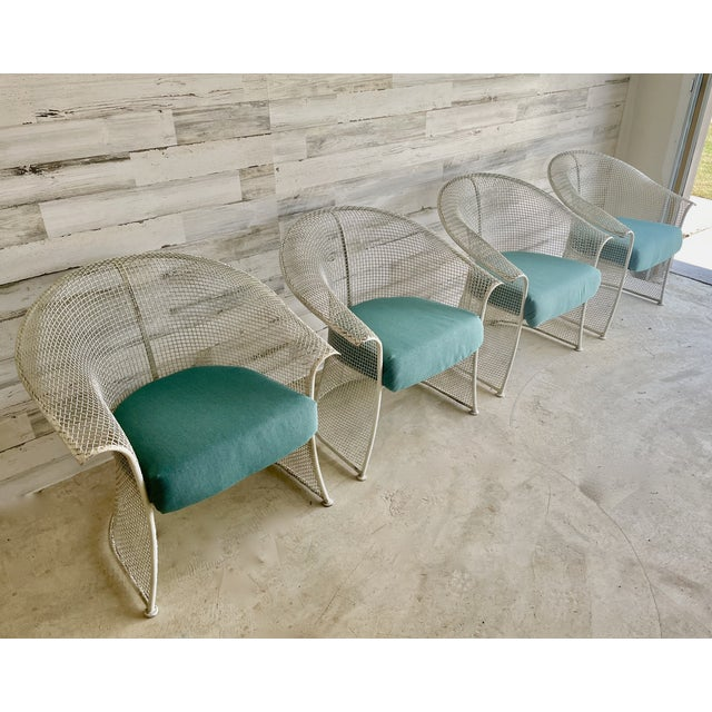 Mid Century Wire Formed Patio Set For Sale - Image 10 of 13