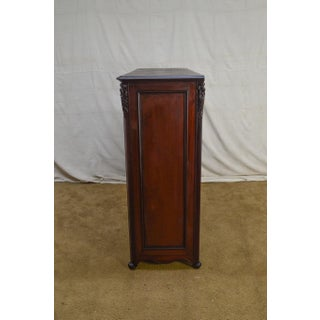 Antique American Mahogany Unusual Art Nouveau Influenced 12 Drawer Tall Dresser Preview