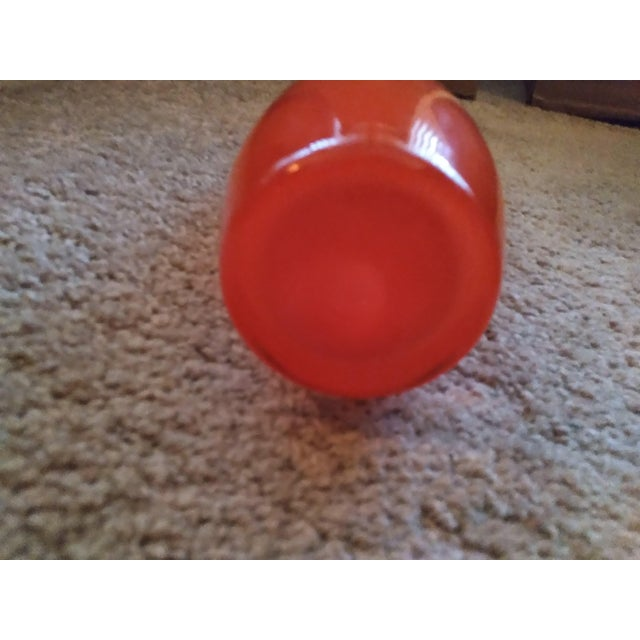1990s Rony Plesl Czech Bohemian Red Vase For Sale In Detroit - Image 6 of 7