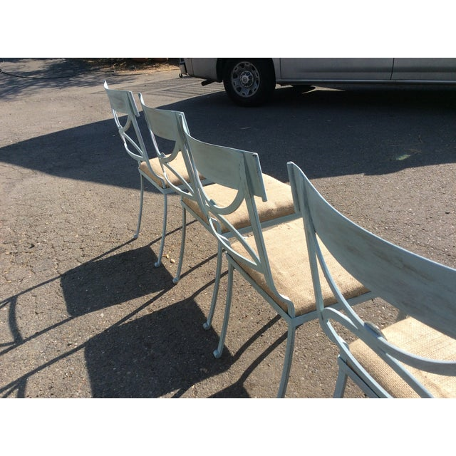 Blue French Empire Chairs - Set of 4 For Sale - Image 8 of 11
