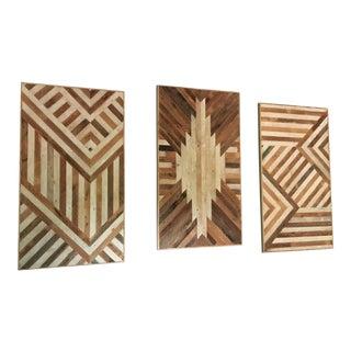 Ariele Alasko Decorative Lath Wall Panels - Set of 3
