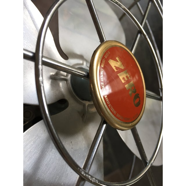 Blue 1950s Vintage Table Fans - a Pair For Sale - Image 8 of 12