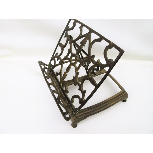 Adjustable Brass Easel Stand - Image 2 of 9