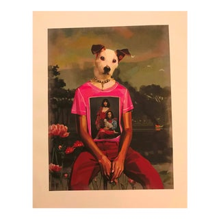 Gallery Wall Art Gucci Dog Man & Family Portrait Shirt Print