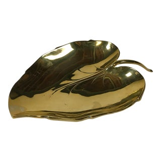Brass Leaf Dish For Sale