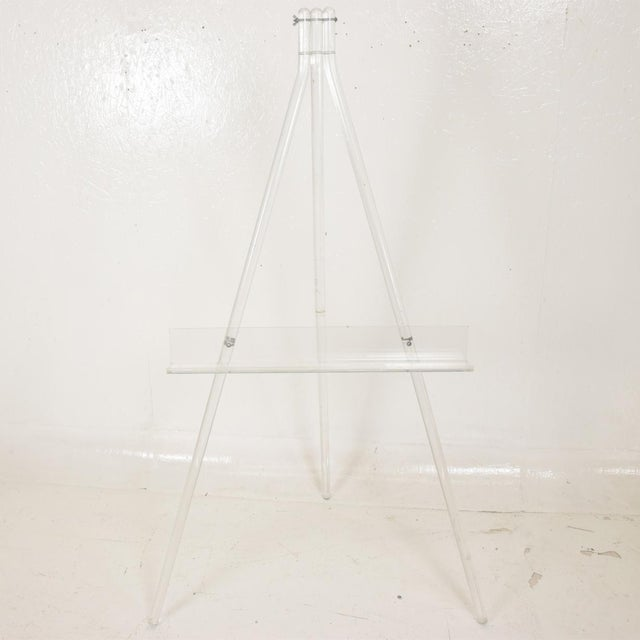 Mid-Century Modern Lucite Easel For Sale - Image 9 of 9