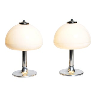 Mushroom Shaped Table Lamps - a Pair For Sale