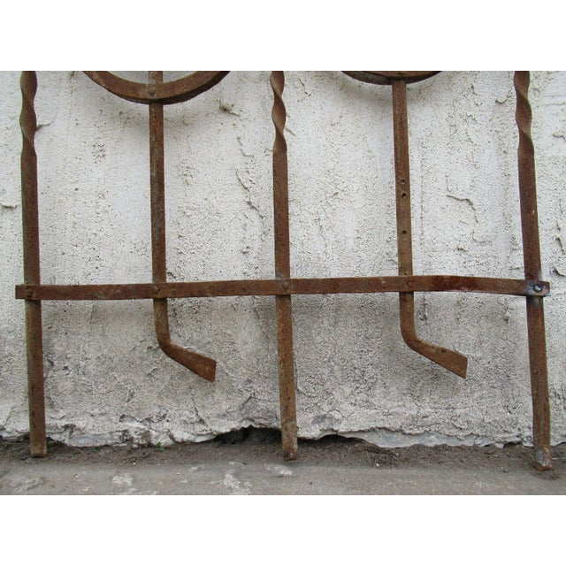 Antique Victorian Iron Gate Window Garden Fence Architectural Salvage Door #089 For Sale - Image 4 of 7