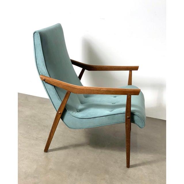 Milo Baughman for Thayer Coggin Milo Baughman for Thayer Coggin Walnut Lounge Chair, 1950's For Sale - Image 4 of 9