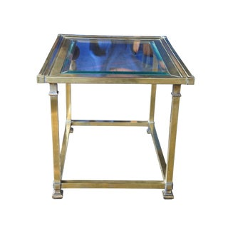 20th Century Hollywood Regency Mastercraft Brass Side Table For Sale