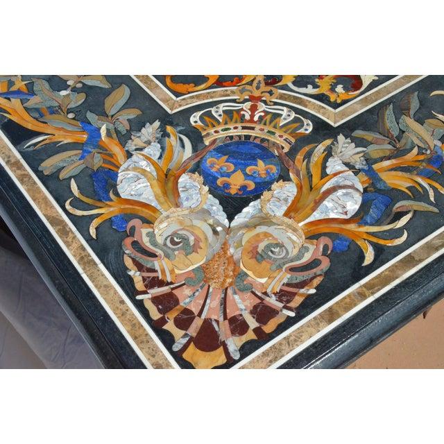 Roman Renaissance Pietra Dura (Pietre Dure) Table For Sale - Image 4 of 11