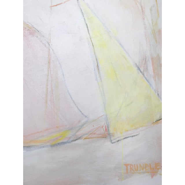 Sarah Trundle The Shape of Things, Contemporary Abstract Painting by Sarah Trundle For Sale - Image 4 of 6