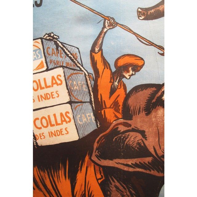 1927 Cafe Collas Elephant French Coffee Poster - Image 2 of 4