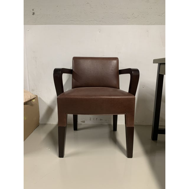 Brown Promemoria Brown Leather Chair For Sale - Image 8 of 8