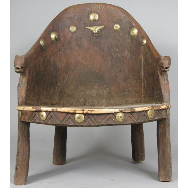 Carved Chief's Chair From Nagaland, India For Sale - Image 9 of 9