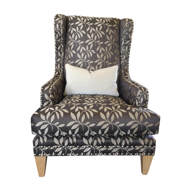 Contemporary Custom Gray Club Chairs - A Pair - Image 1 of 6